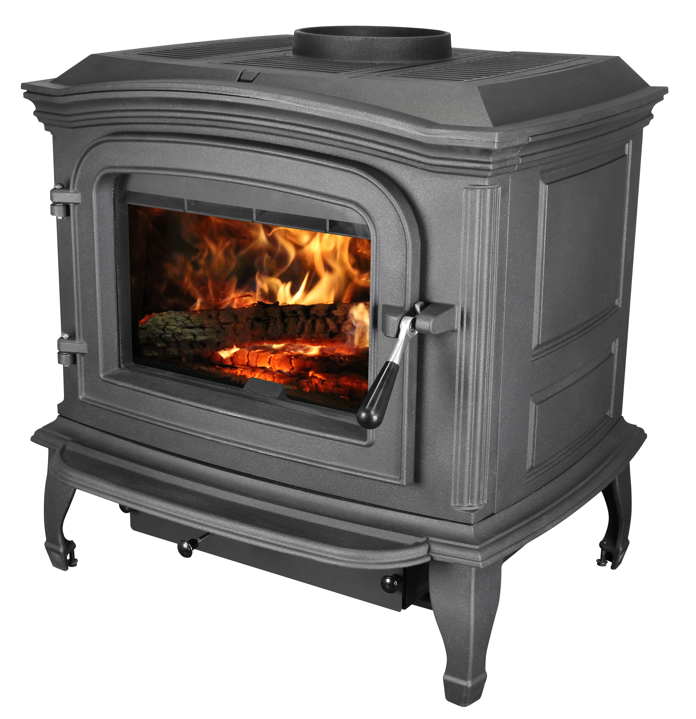 Cast Iron Direct Vent Wood Burning Stove