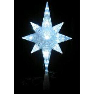Led Lighted Crystal Bethlehem Star Christmas Tree Topper