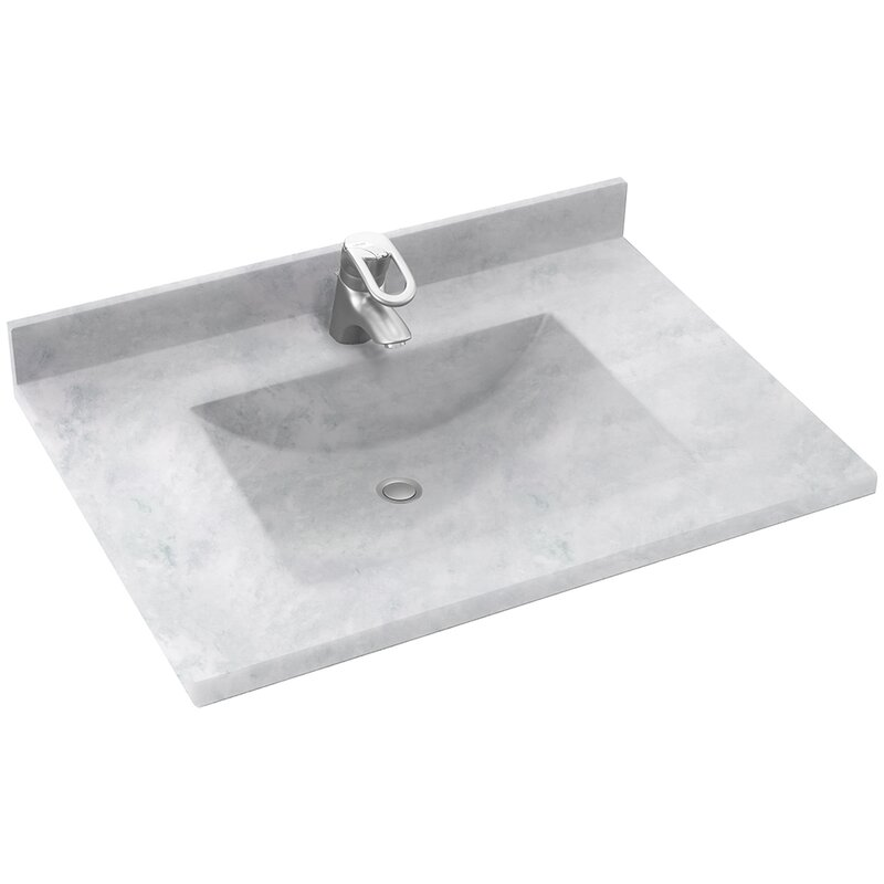 contour 37 single bathroom vanity top - Bathroom Vanity Top