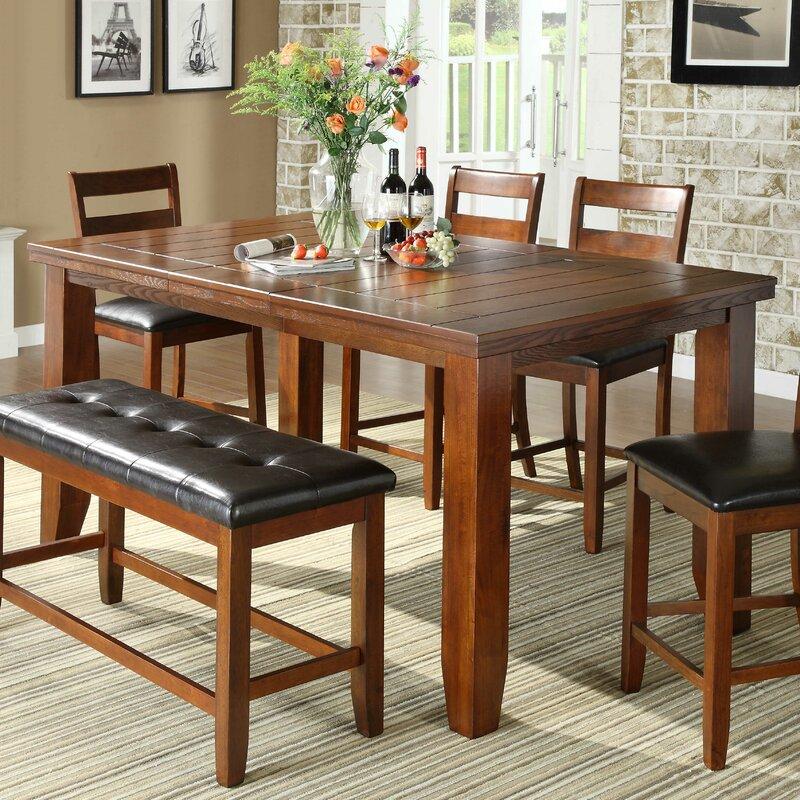 Extending Dining Room Table red barrel studio nexus extendable dining table & reviews | wayfair