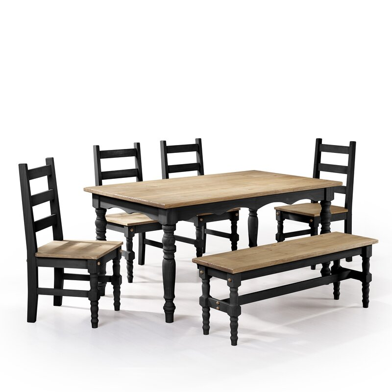 Pinard Solid Wood 6 Piece Dining Set (Set Of 6)
