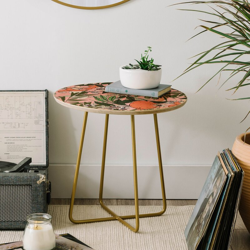 East Urban Home Marta Barragan Camarasa Olives In The Flowers End Table Wayfair