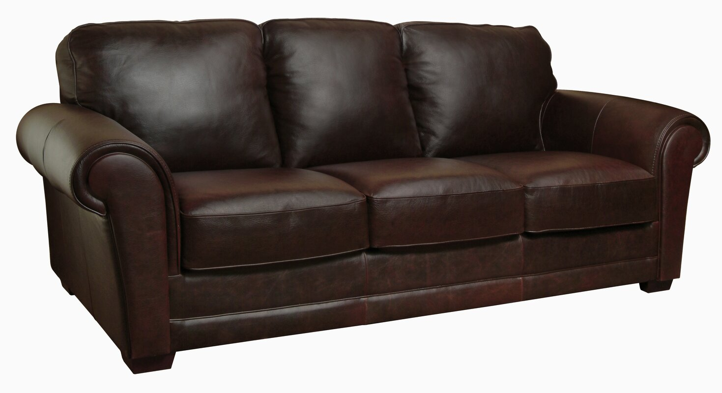 Luke Leather Mark Leather Sofa & Reviews