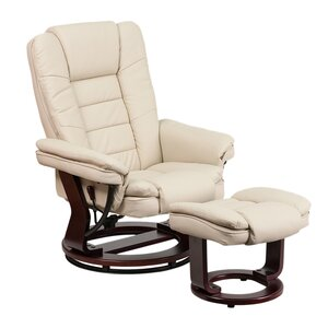 Inga Manual Swivel Recliner with Ottoman