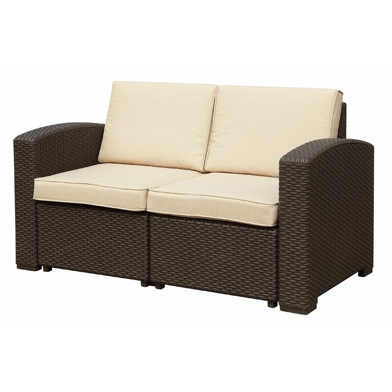 Antoinette Coastal 4 Piece Sofa Set With Cushions