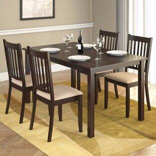 Lazaro 5 Piece Solid Wood Dining Set