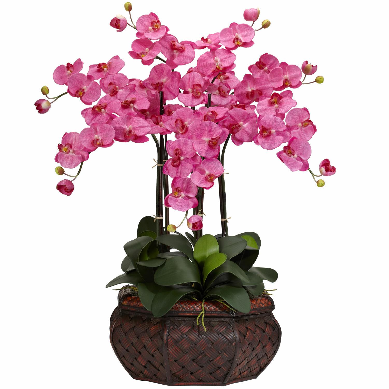 Nearly natural large phalaenopsis silk flower arrangement in dark nearly natural large phalaenopsis silk flower arrangement in dark pink reviews wayfair mightylinksfo