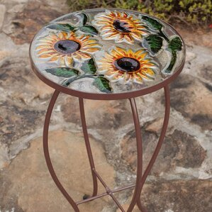 Sunflowers End Table by Evergreen Flag & Garden
