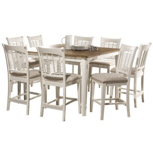 Hartling Bayberry 9 Piece Counter Height Dining Set Best #1