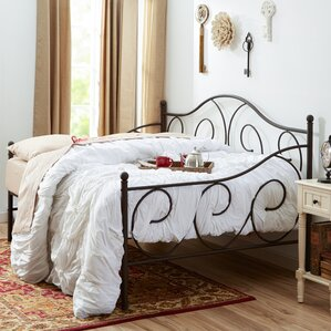Yolanda Metal Scroll Daybed by Winston Porter Image