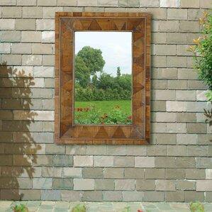 Rustic Window Pane Mirror Wayfair