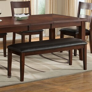 Viola Heights Wood Bench by Vilo Home Inc.