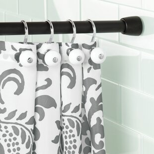 black and turquoise shower curtain. Cameo 26 3  Adjustable Straight Tension Shower Curtain Rod Matte Black Rods You Ll Love Wayfair