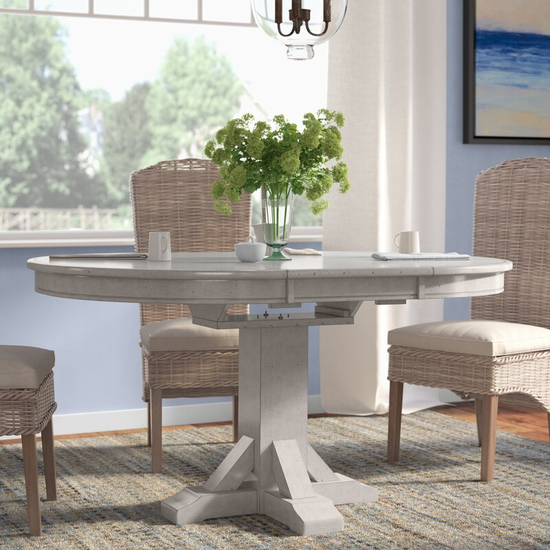 rutledge pedestal dining table with butterfly leaf - Pedestal Dining Room Table With Leaf
