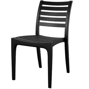 Melissus Stacking Patio Dining Chair Set Of 2
