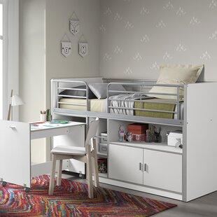 Bonny European Single Mid Sleeper Bed With Desk