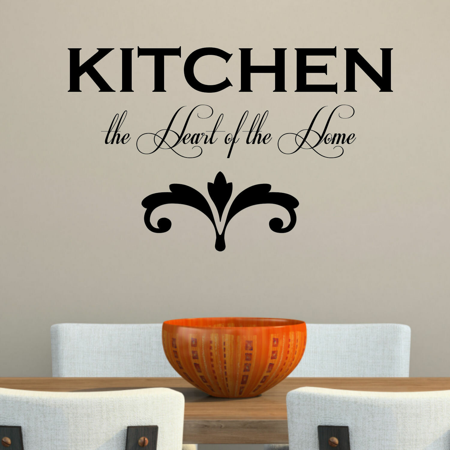 Decalthewalls Kitchen The Heart Of The Home Wall Decal Reviews