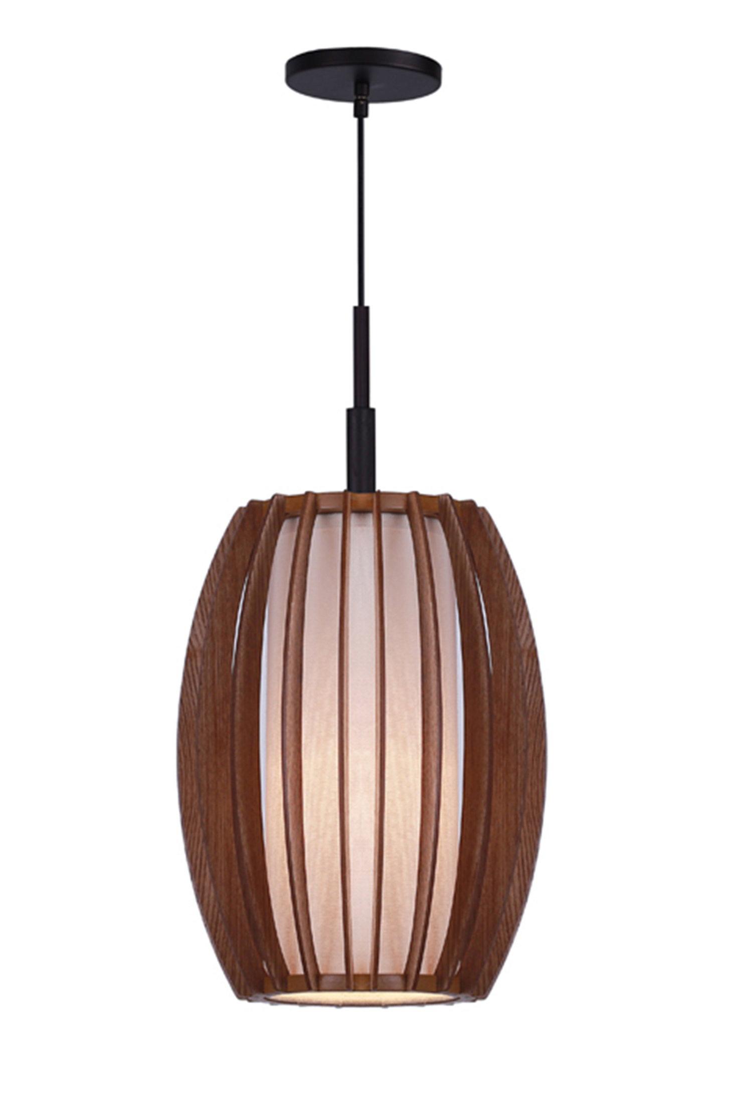 Wood Mini Pendant ~ Woodbridge fins wood light mini pendant wayfair