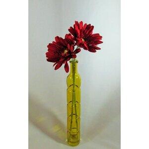 Gerbera Daisies in Tall Glass Bottle