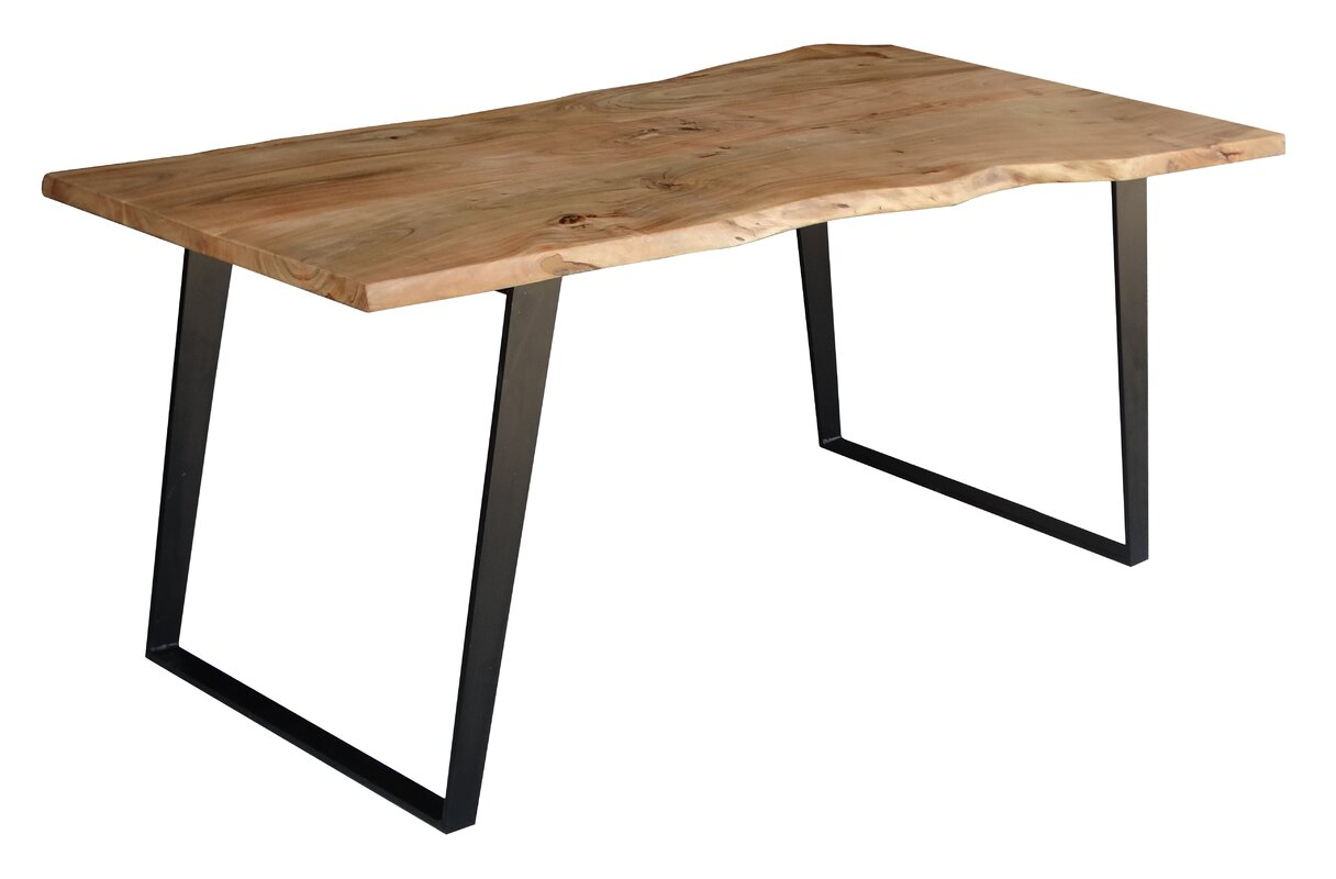 Timbergirl Solid Wood Live Edge Dining Table Amp Reviews