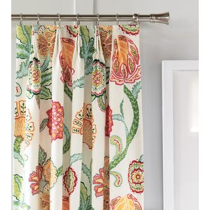 portia semisheer pinch pleat single curtain panel