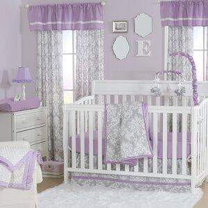 Damsel Damask 4 Piece Crib Bedding Set