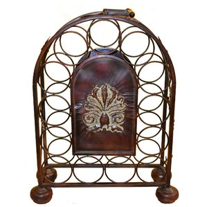 Natalya Metal 13 Floor Wine Bottle Rack by Bloomsbury Market