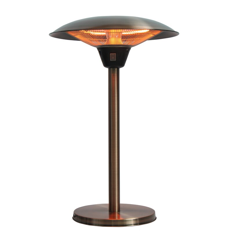 fire sense cimarron halogen 1500 watt electric tabletop patio heater rh wayfair com