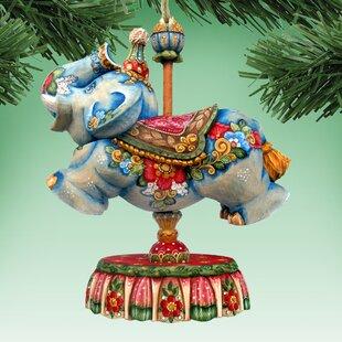 carousel elephant shaped ornament - Christmas Carousel Decoration