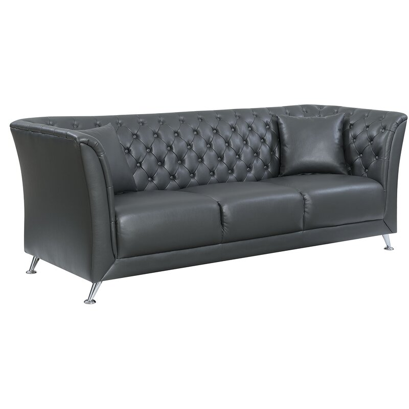 Keely Contemporary Button Tufted Sofa