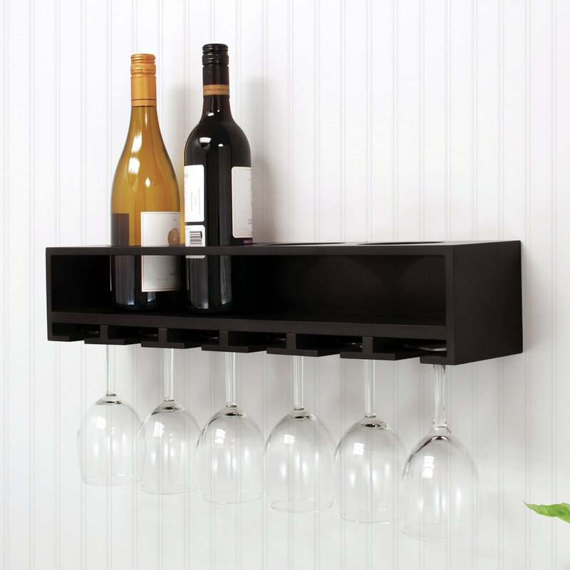 Nexxt Design 4 Bottle Wall Mounted Wine Rack Reviews Wayfair