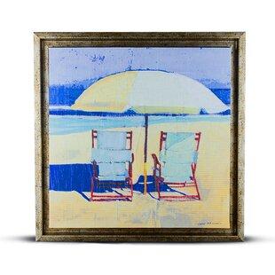 U0027Beach Chairsu0027 Framed Painting Print On Canvas