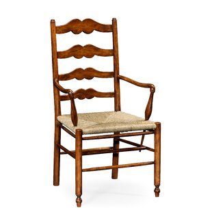Ladder Back Solid Wood Dining Chair (Set of 2)