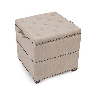 Audane Square Cube Ottoman by Three Posts