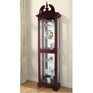 Hamilton Lighted Curio Cabinet by Astoria Grand