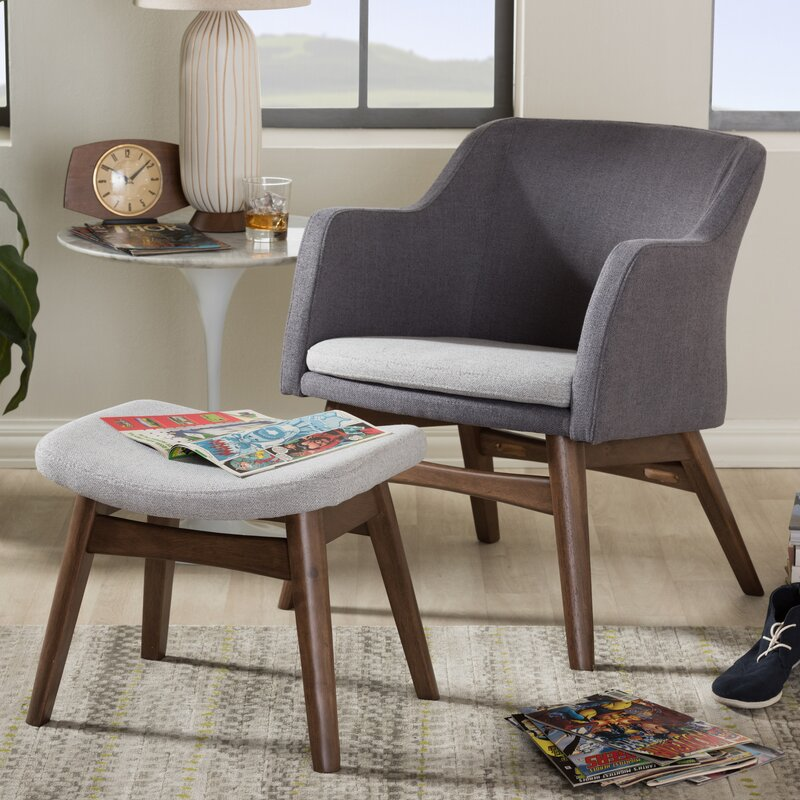 Wholesale Interiors Victoria MidCentury Modern Lounge Chair and