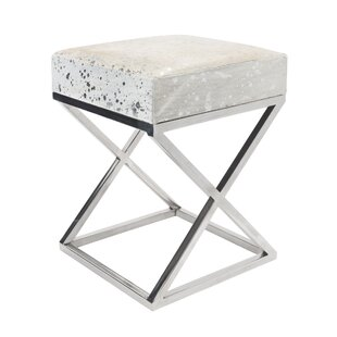 High Quality Steel And Cowhide Leather Bench
