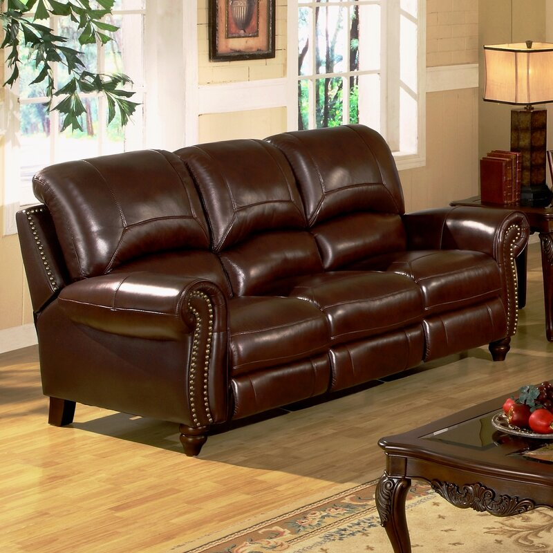 Kahle Leather Reclining Sofa Part 4