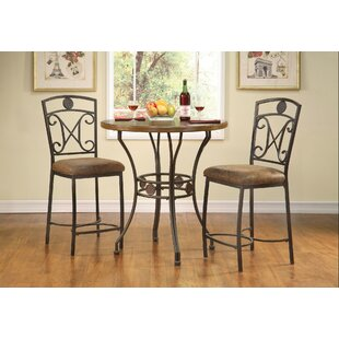 Bracamonte 3 Piece Dining Set