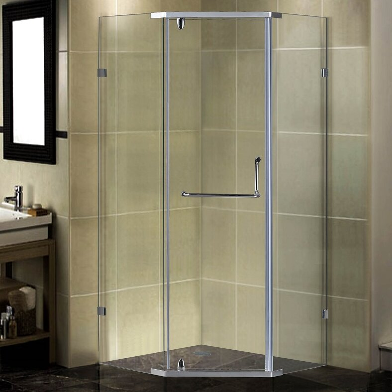 semi framed king frameless glass panel clear nickel shower hardware installations galleries door satin