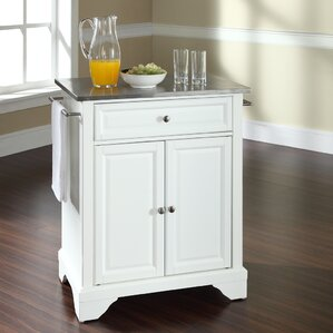 Abbate Kitchen Cart with Stainless Ste..