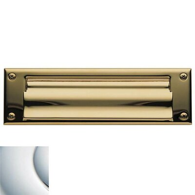 Baldwin 10 in x 3 Brass Mail Slot Color: Bright Chrome