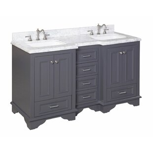 white vanity double sink. Save to Idea Board  Kitchen Bath Collection Nantucket 60 Double Sink Bathroom Vanity Set Vanities You ll Love Wayfair
