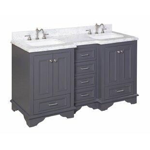 60 in double sink vanity. Save to Idea Board  Kitchen Bath Collection Nantucket 60 Double Sink Bathroom Vanity Set Vanities You ll Love Wayfair