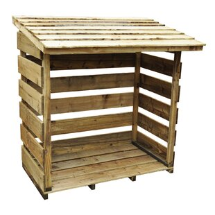 Eugenie 4 Ft. W x 3 Ft. D Wooden Log Store by Lynton Garden