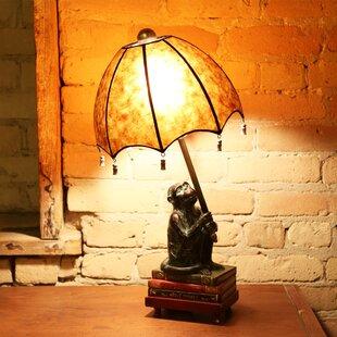 Crites Intellectual Monkey 21.75u201dH Table Lamp