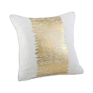 Garlan Metallic Banded Cotton Throw Pillow