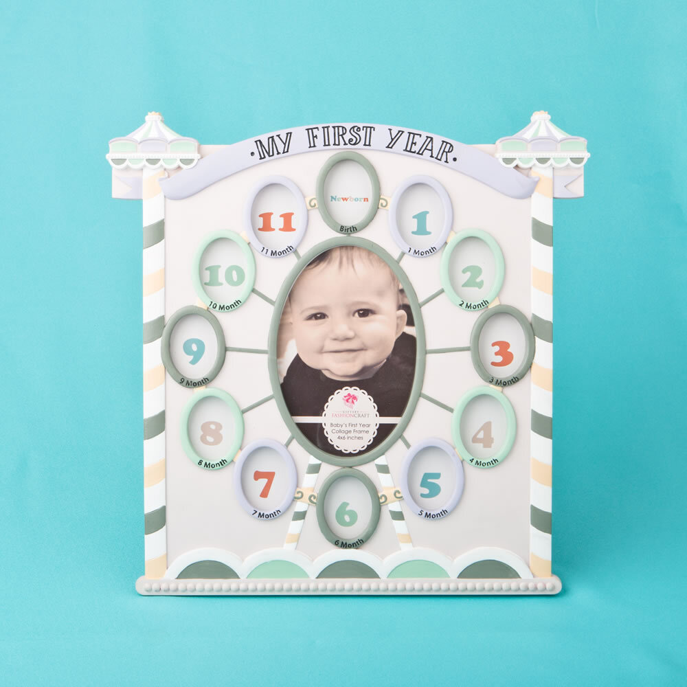 FashionCraft My First Year Collage Circus Tent Baby Picture Frame ...