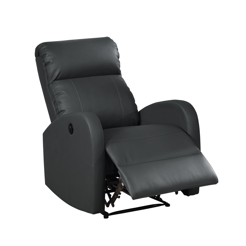 ac pacific sean leather recliner reviews wayfair