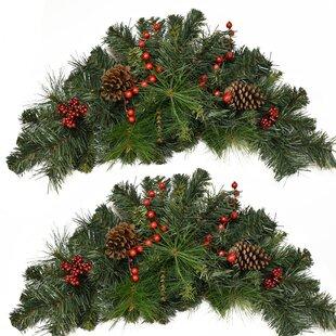 Pine and Berry Christmas Swag (Set of 2)